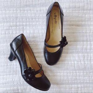 SoftSpots Black Patent Leather Heels